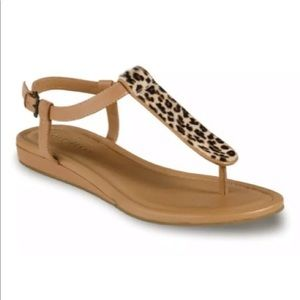 Cole Haan Molly Flat Leopard Thong size 8.5